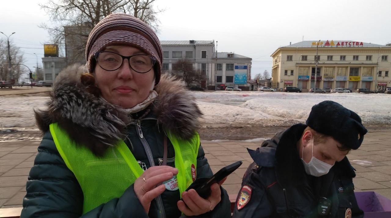 В Архангельске составили протокол на активистку бессрочки за нарушение режима