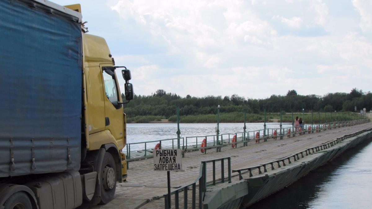 Через реку Вага открыта бесплатная переправа
