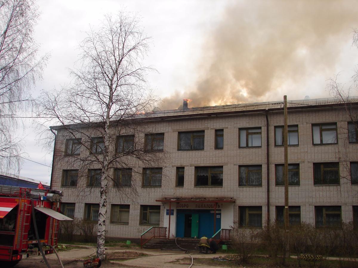 В техникуме Шенкурска произошёл пожар