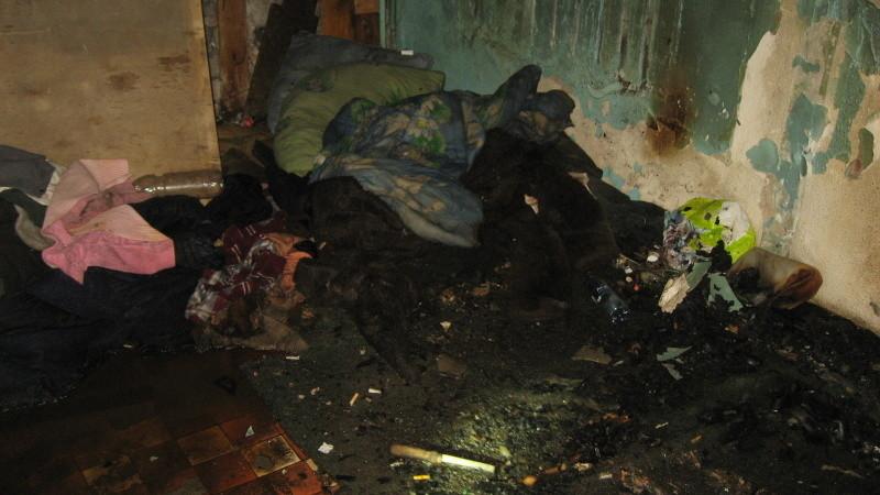 При пожаре в Новодвинске спасли двоих бездомных